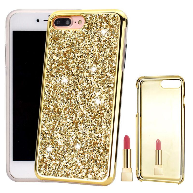 Luxury Mirror Diamond Glitter Bling Hybrid 2 en 1 Funda de PC Dura de TPU Suave para iPhone XR XS Max X 8 7 6 6S Samsung S8 S9 Plus Nota 9 Nota9