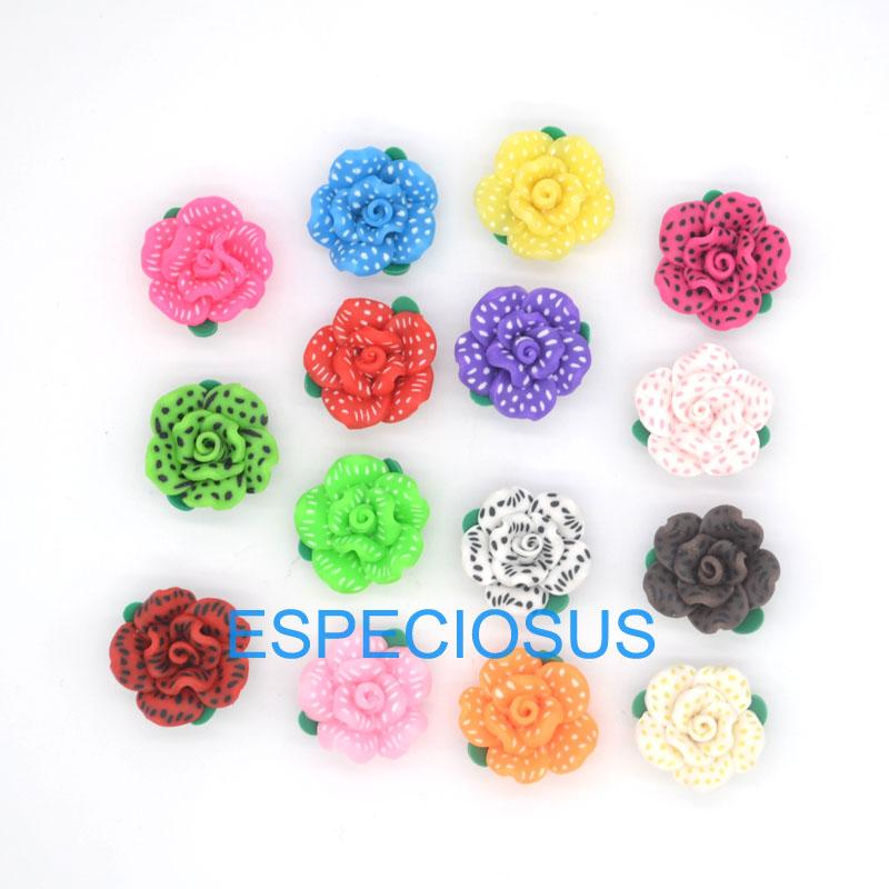2019 Diy Jewelry Necklace Accessory 20mm Polymer Clay Flowers Mix