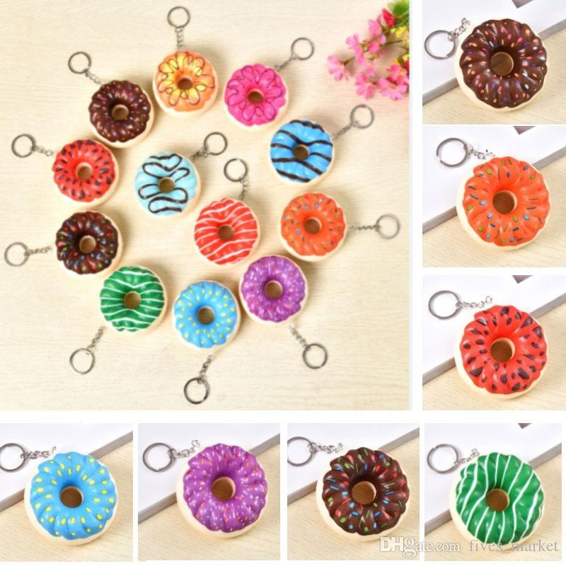 Pu Donut Bubbler Squishy Keychain Adult Children Decompression Toys Christmas Gifts AN2061