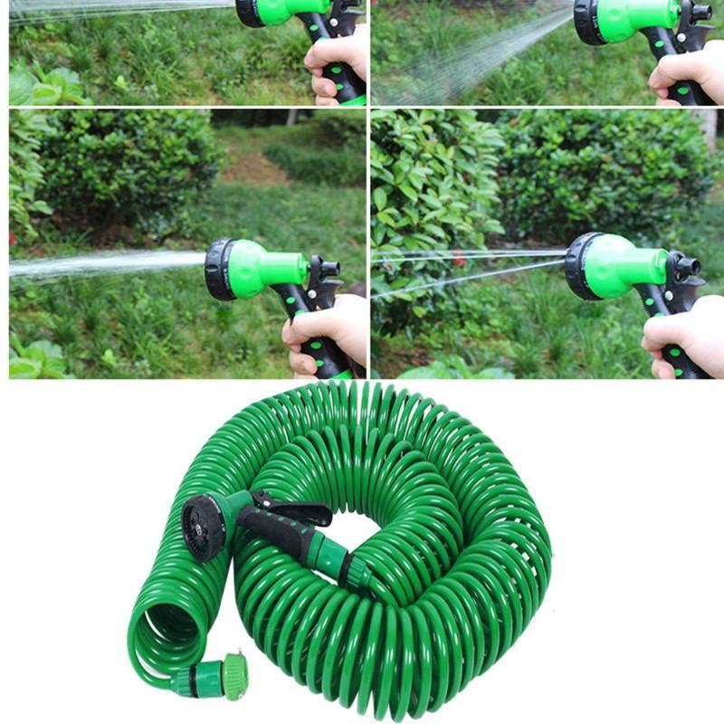 7.5M/15M Garden Hose Expandable Flexible Water Hose Pipe Hoses Pipe Watering Spray Gun for Car Lawn Irrigation Watering Kit Y200106