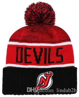 2019 2019 DeVILS Beanie Winter NEW JERSEY Knitted Adult Sport Knit Hat Cap Beanies  Hats Basketball Baseball Football Winter Beanies Hats 1000+ From Lindab2b  ... e7433fc3c76