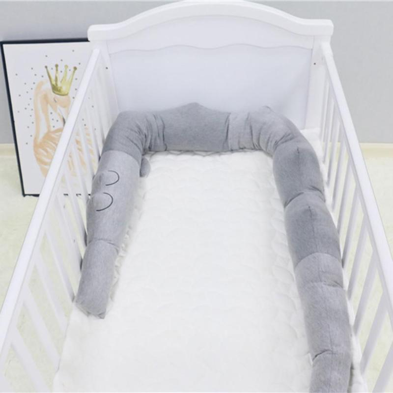heap Bumpers 185cm Newborn Baby Bed Crib Fence Bumper Toys Protection Crocodile Pillow Cotton Cushion Kids Room Decoration Toys Baby Bedd...