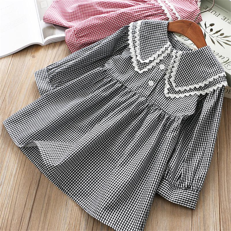 0-6 years High quality girl dress 2019 spring new Preppy style full sleeves kid children clothing princess girl dresses