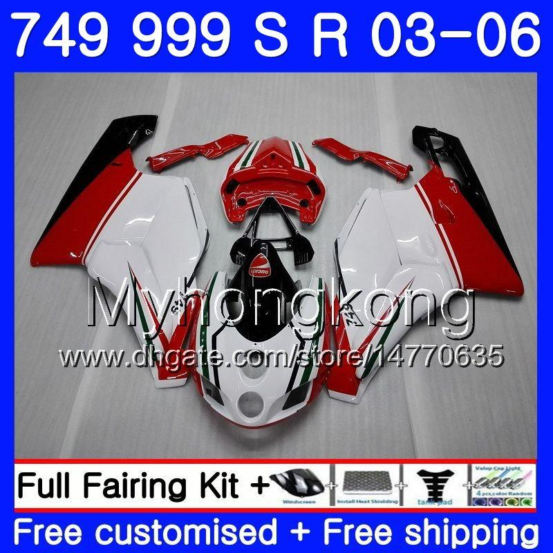 Body For DUCATI 749-999 749S 999S 999 749 03 04 05 06 Bodywork hot sale white 326HM.5 749 999 S R 999R 749R 2003 2004 2005 2006 Fairing kit