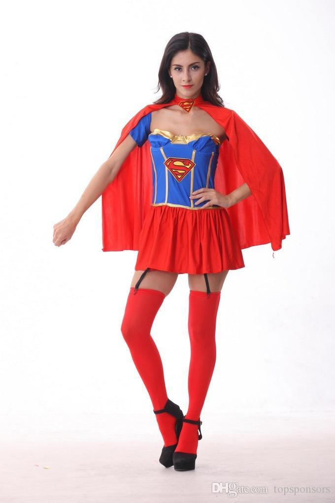 American Hero Wonder Woman Dress cosplay Halloween Stage Wear NEW Fashion Party Beer Festival Costume Superman Costume