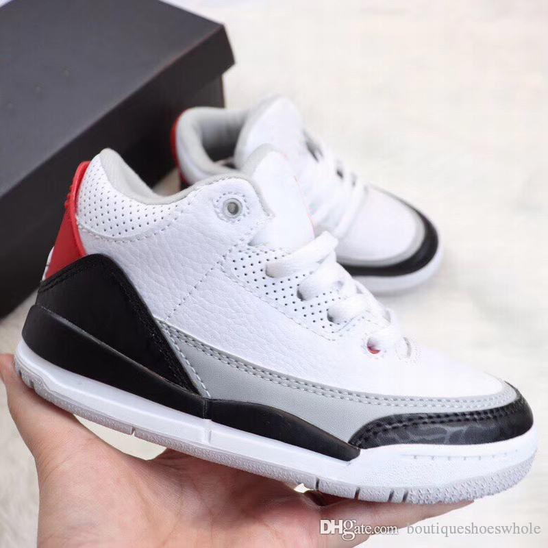 official photos 2c526 81ce2 Retro Youth Boys Girls 3 White Cement Katrina Cyber Monday Basketball Shoes  Little Kids 3s III Katrina Sneakers Size 11C 3Y Toddler Boy Dress Shoes  Running ...