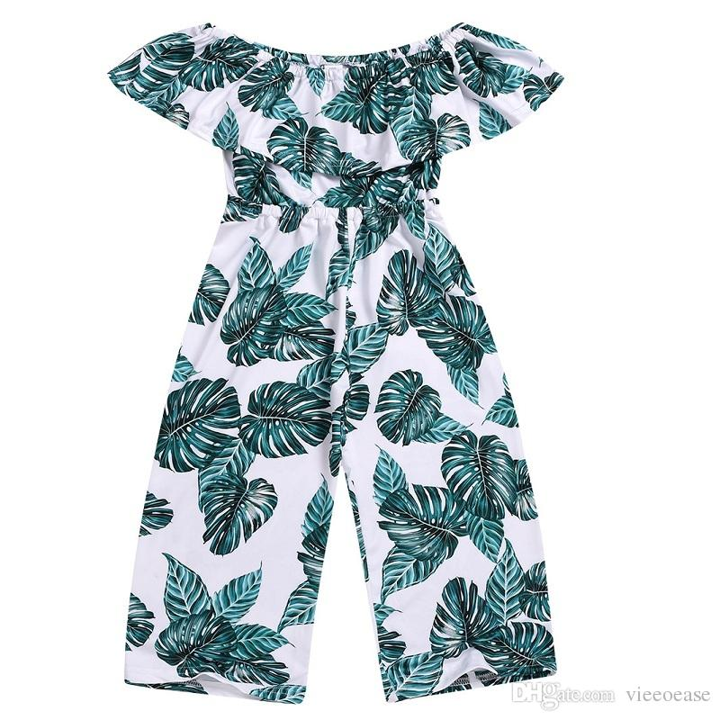1e752cc30 2019 Vieeoease Girls Jumpsuits Floral Kids Clothing 2019 Spring Summer  Ruffle Collar Lace Print Stripe Jumpsuits CC 372 From Vieeoease, $59.76 |  DHgate.Com