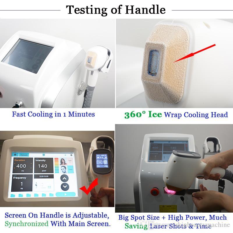 Diodo de alta qualidade laser máquina de remoção de cabelo 808nm alexandrite depilação soprano lazer cabelo eliminação lightsheer máquinas clínica uso