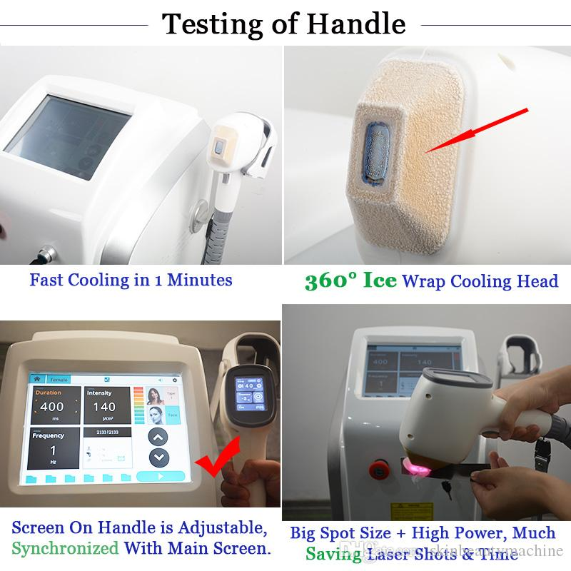Painfree Diode Laser Hair Removal Machine Alexandrite Soprano Ice Lazer Hairs Remover 808nm Lightsheer Beauty Clinic Use