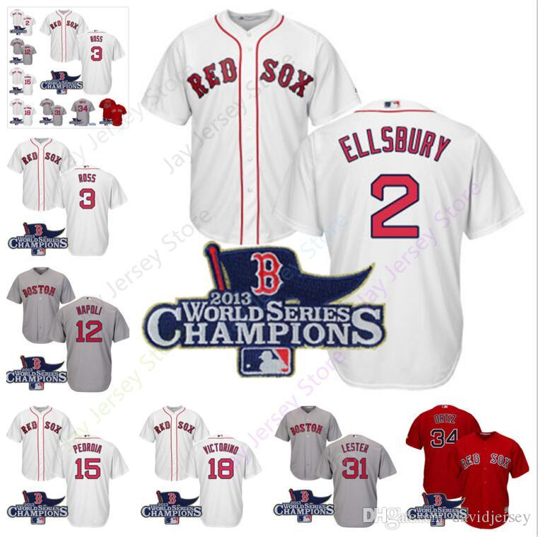timeless design 8ddb0 7fca1 Boston 2013 World Series Red Sox Jersey Clay Buchholz John Lackey  caijishabi Miller David Ross Ellsbury Napoli Bogaerts Ortiz Pedroia