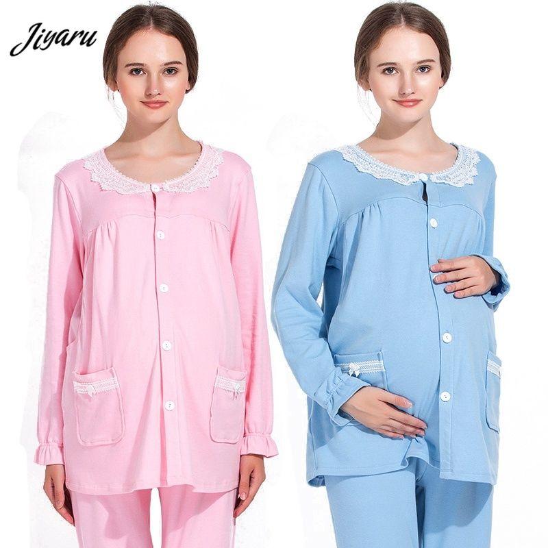edd0f5a48 Compre Pijama Embarazada Lactancia Loungewear Pijamas Conjunto Maternidad  Invierno Enfermería Pijamas Salón Del Sueño Ropa Ropa Embarazada A  49.78  Del ...