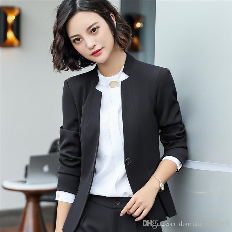 6e366f269 2019 New Spring Autumn Plus Size 5XL Womens Business Suits One Button  Office Female Blazers Jackets Short Slim Blazer Women Blazer Jacket 9993  From ...