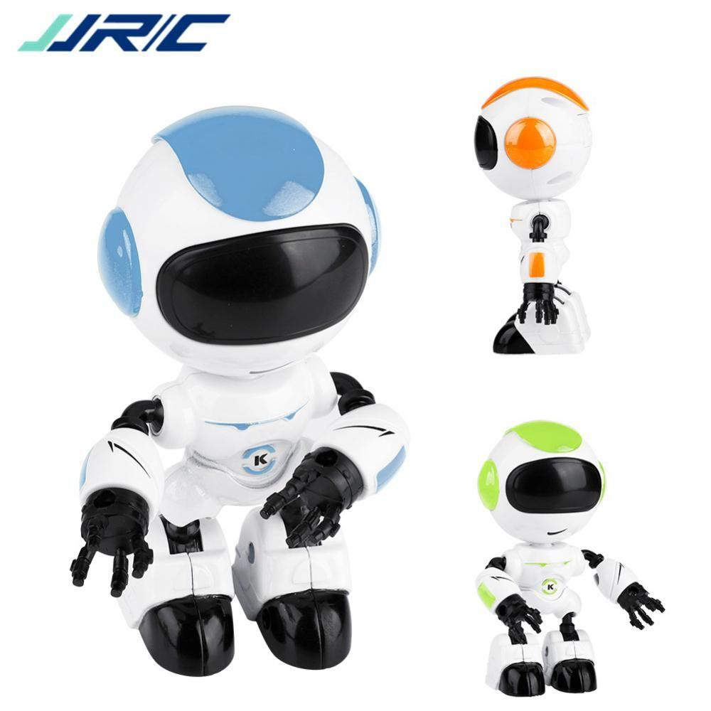 JJRC Touch Control LED Eyes RC Robot Smart Intelligent Voice DIY Body  Gesture Model Touch Sensing Head Voice Interaction R8 Smart Robot VB