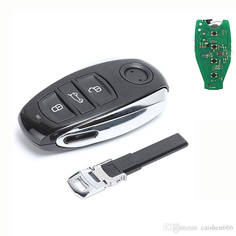 Keyless Entry Smart Card 3 Button Remote Car Key Fob 433MHZ ID46 Chip for VW Touareg 2011-2014