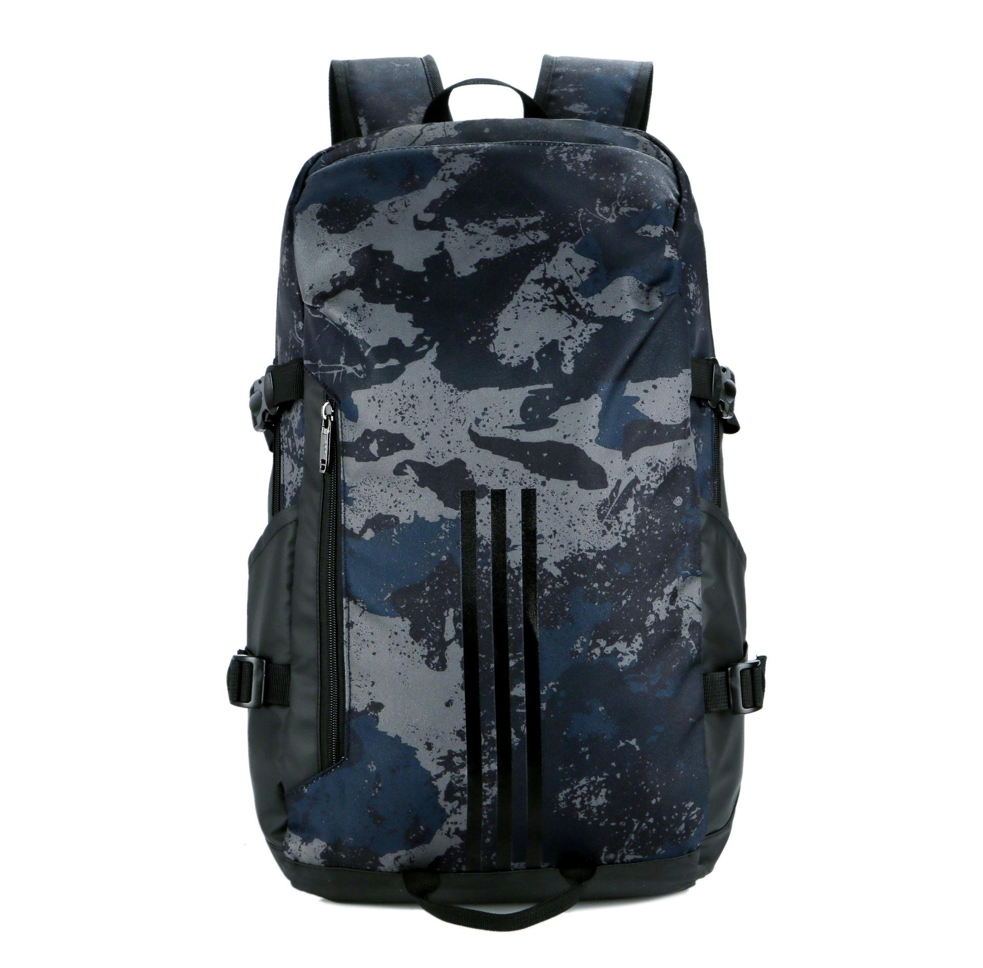 Backpack men's luxury stitching fashion camouflage student backpack outdoor large-capacity travel bag casual fashion new wholesale