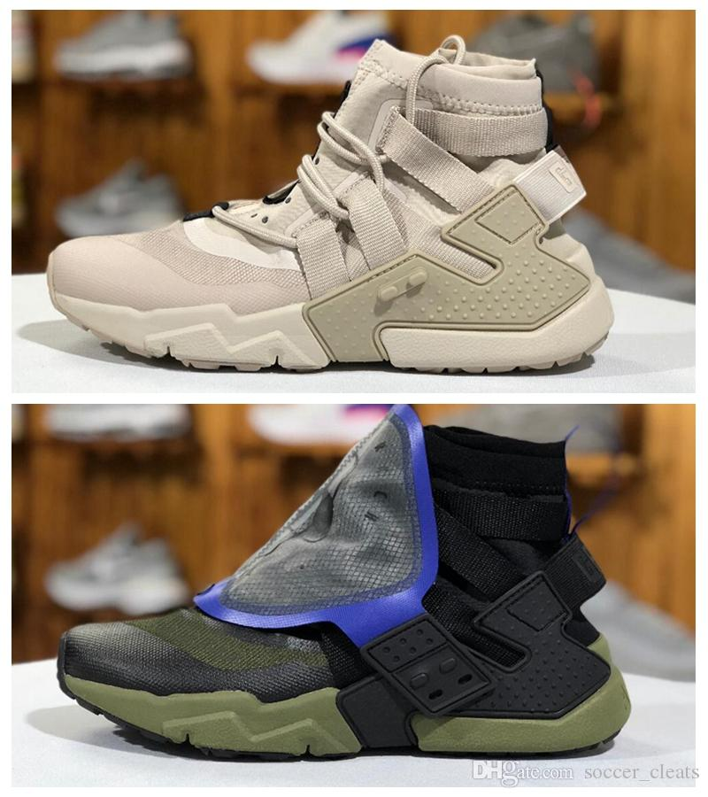 2019 Designer 2019 Huarache Gripp QS Sail Olive Army Green Black Running  Shoes Mens Trainers Sneakers Huaraches X Acronym Mid Sports From  Soccer cleats ed0dac6e1
