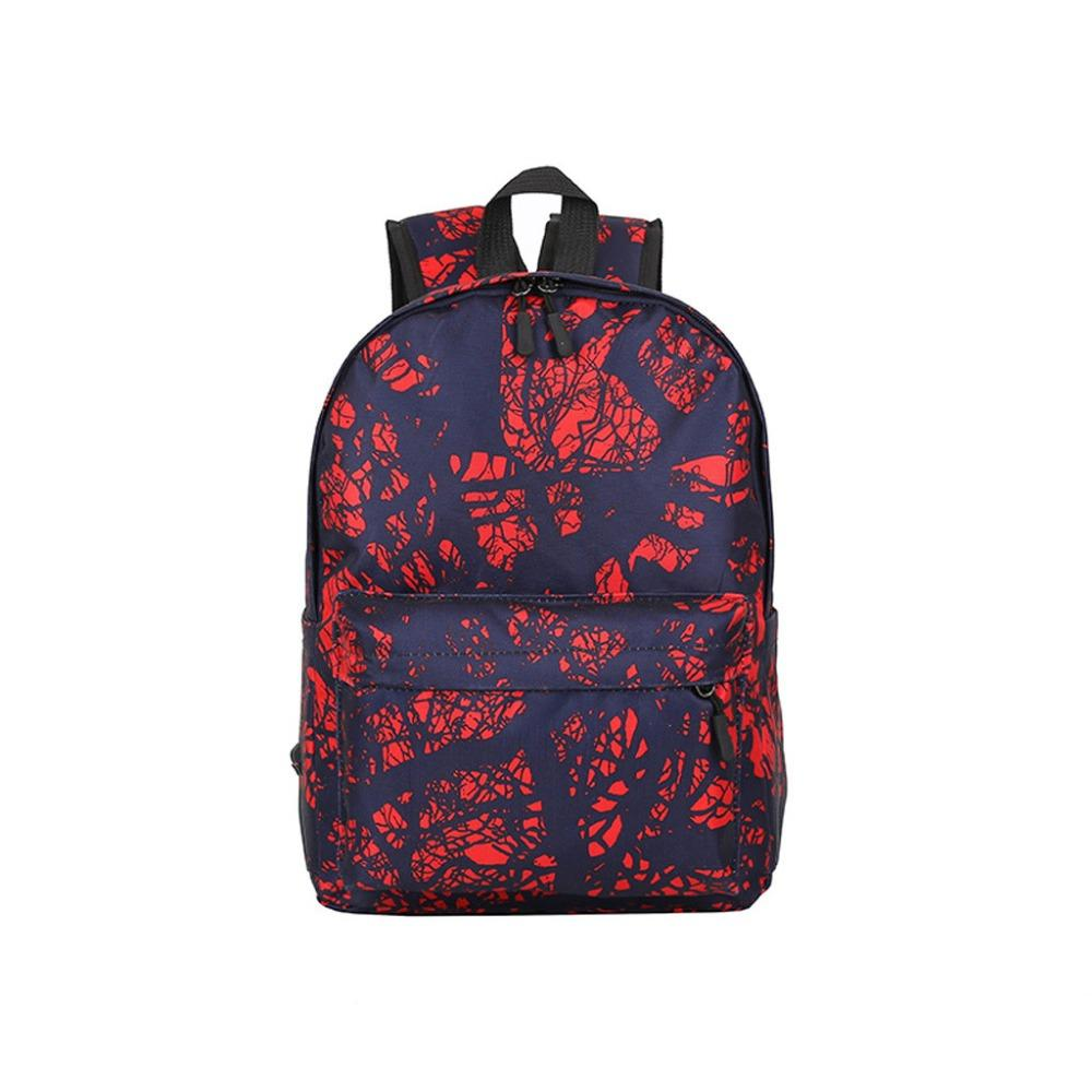 Women Backpack 2019 Fashion Simple School Backpack Women Neutral Nylon Waterproof Dark Flower Large Capacity Outdoor K510