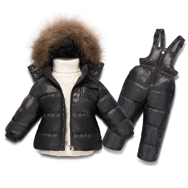 40e838c04 2019 Children Boy Winter Clothing For Girl Snowsuit Skiing Down Set ...