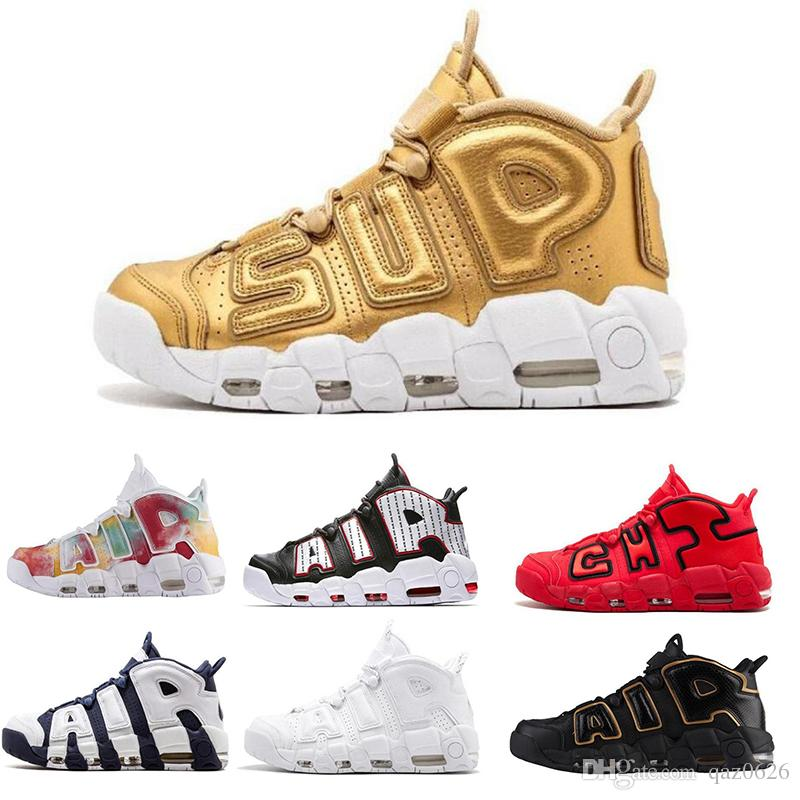 73d8d29fc58f 2019 2019 Uptempo Mens Basketball Shoes For Women 96 QS Olympic Varsity  Maroon 3M Scottie Pippen Sports Sneakers Size 40 46 From Qaz0626