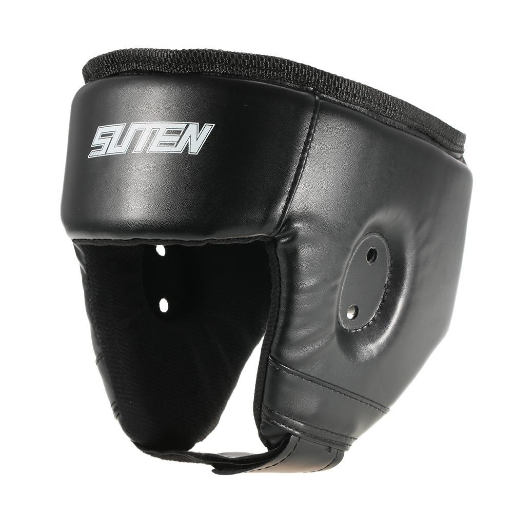 PU Boxing Helmet Closed Type Boxing Head Guard Sparring MMA Muay Thai Brace Head Protection Sanda Taekwondo Protection Gear