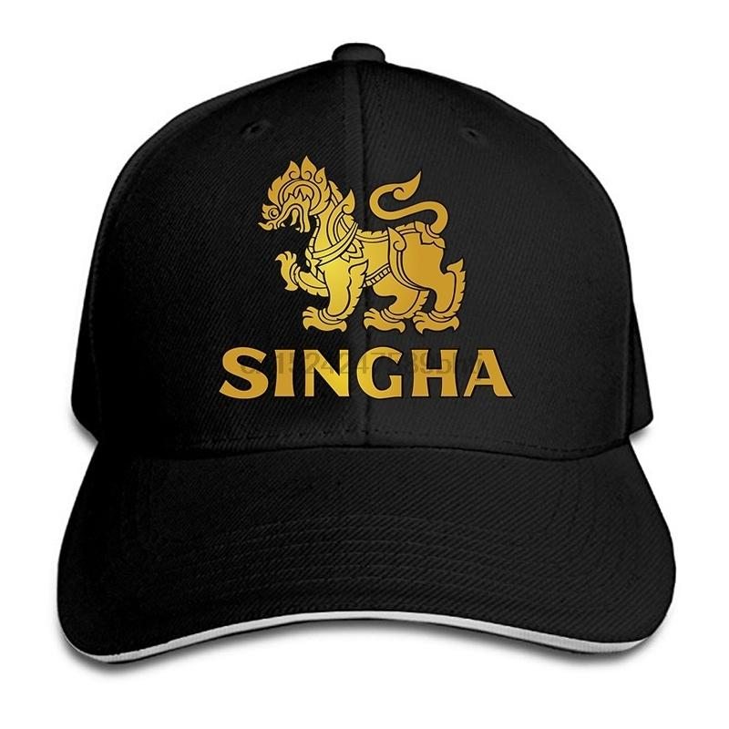 Singha Logo Print Baseball Cap Fashion Unisex Golf Cap Summer Mesh  Adjustable Hat Stores Custom Trucker Hats From W245 7f190285a724