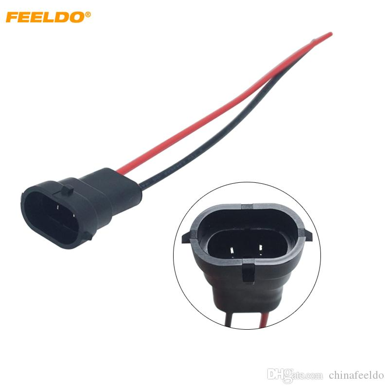 LEEWA wholesale Car Auto H11 Wiring Harness Socket Wire Connector Plug on