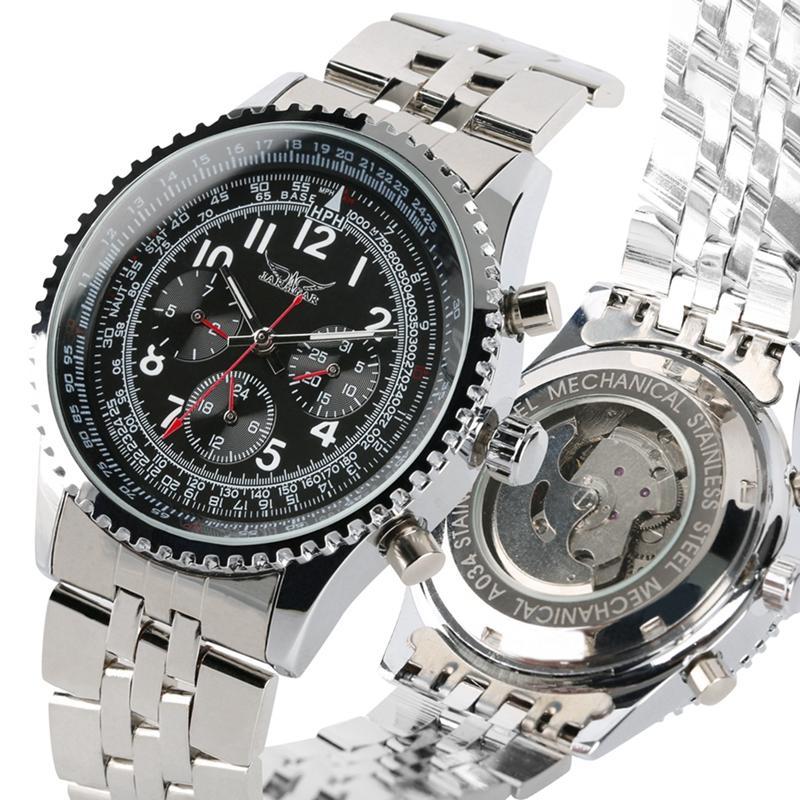 Herren Hombre Luxus Top Automatische Man Armbanduhr 2019 Mechanische Uhr Clock Edelstahl Jaragar Uhren Reloj 1TlJFKc
