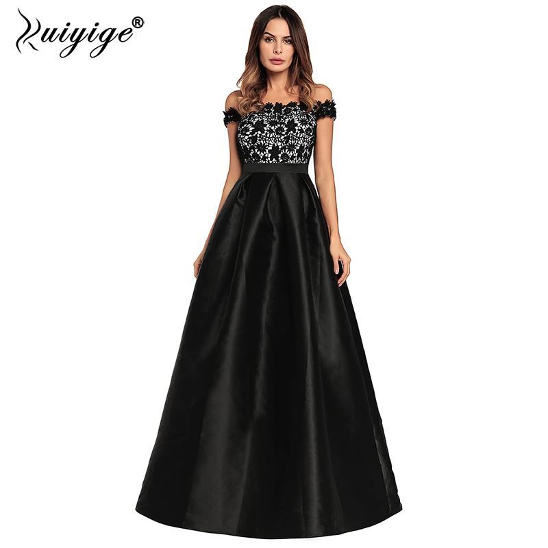 e8bb8b29a323e Ruiyige 2018 Women Evening Party Sexy Strapless Lace Patchwork Maxi Dress  Backless Zip Elegant Dresses Long Prom Vestidos Female Y19012201