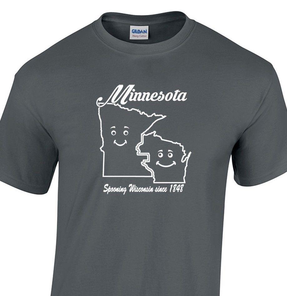 4abacecccf Compre MINNESOTA SPOONING WISCONSIN DESDE 1848 T Shirt Engraçado Humor Do  Estado Unisex LadiesFunny Frete Grátis Unisex Top De Dappachappy, ...