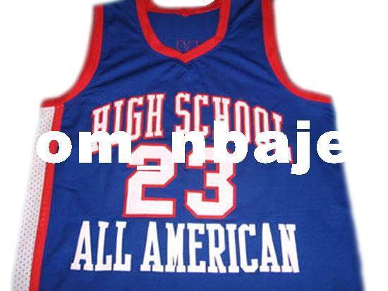 2019 Customjames 23 High School All American Basketball Jersey Blue