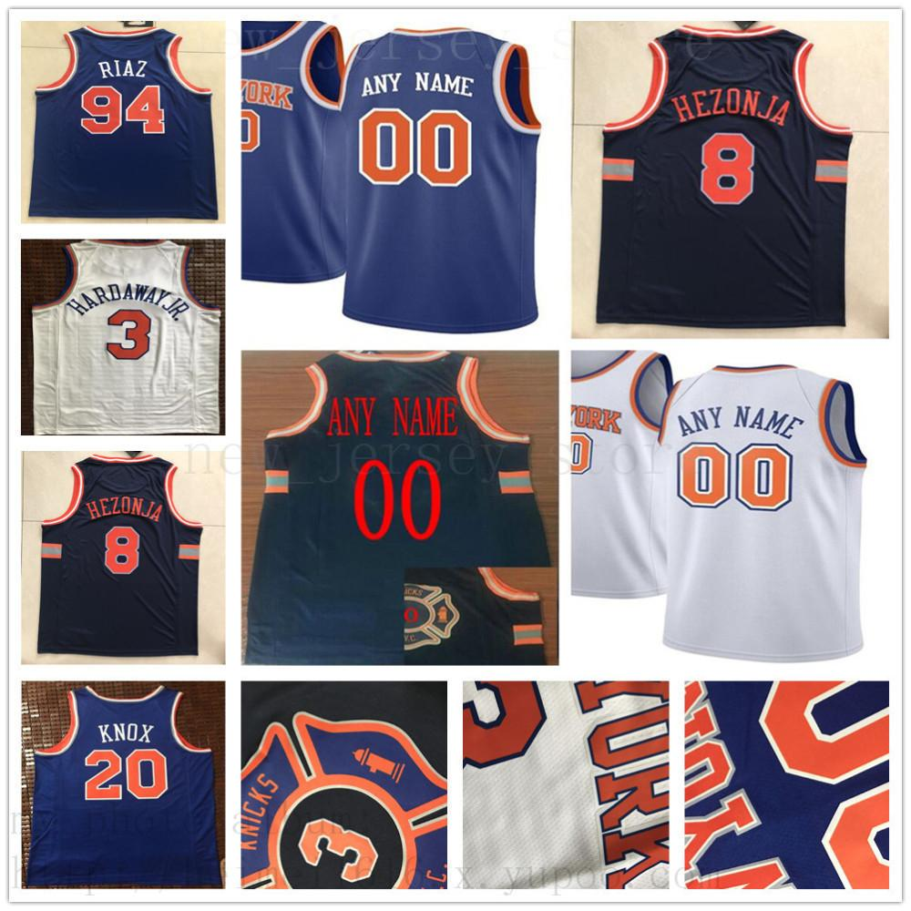new concept 45c07 665f2 Custom Printed New York Lance 42 Thomas 8 Mario Hezonja 32 Noah Vonleh 2  Luke Kornet 30 John Jenkins 0 Kadeem Allen Knicks Jersey
