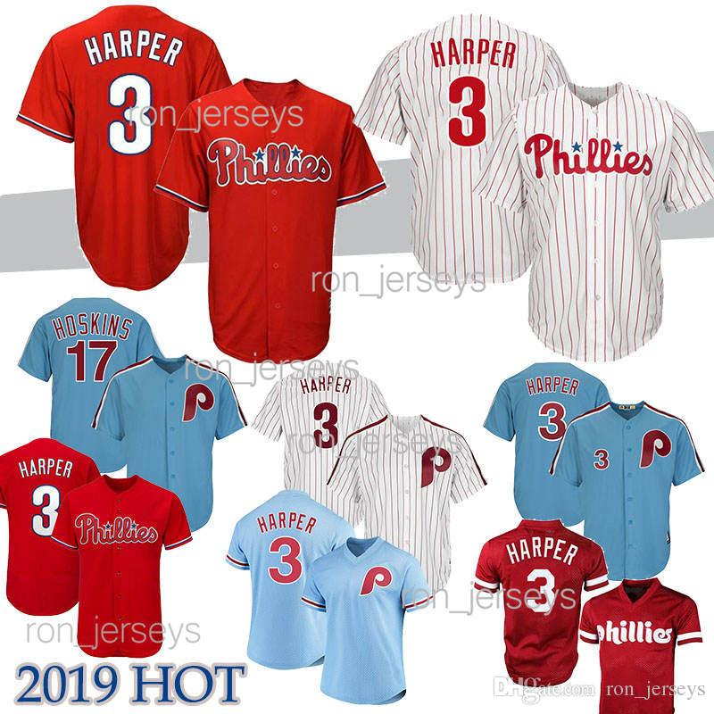 Philadelphia 3 Bryce Harper jersey 17 Hoskins 27 Nola 7 Maikel Franco Phillies 4 Lenny 99 Williams Baseball Jerseys 2019