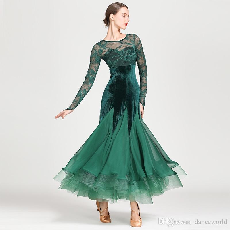2019 2019 Black Standard Ballroom Dress Women Waltz Dancewear Fringe Dance  Wear Ballroom Dance Competition Dress Rumba Costumes Flamenco Dress From ... 71fb87744