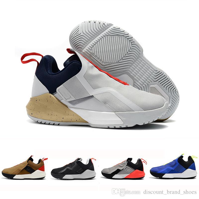 98f5e585e7a High Quality James Ambassador 11 Men Basketball Shoes White Gold ...