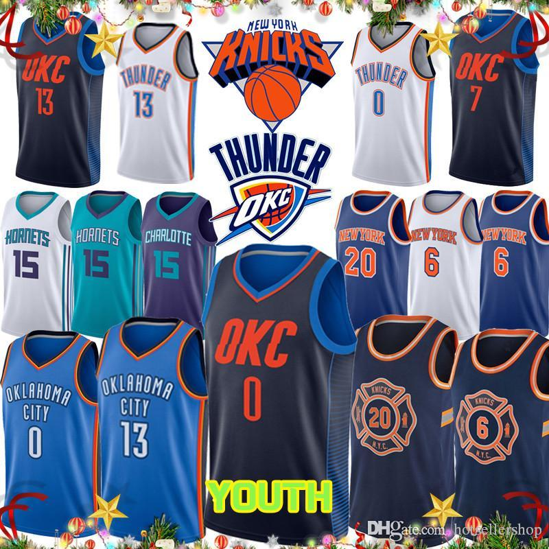 b675dc3dcbb5 Russell Knicks Kemba Walker Westbrook 13 Paul George 15 City Thunder ...