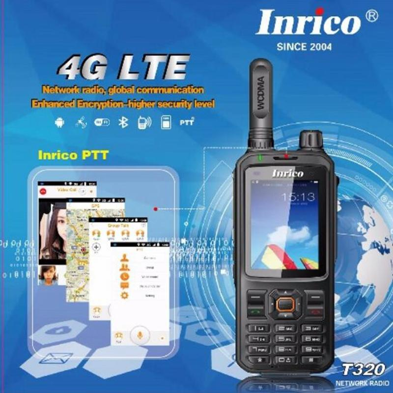 4G LTE network intercom transceiver mobile phone radio walkie talkie