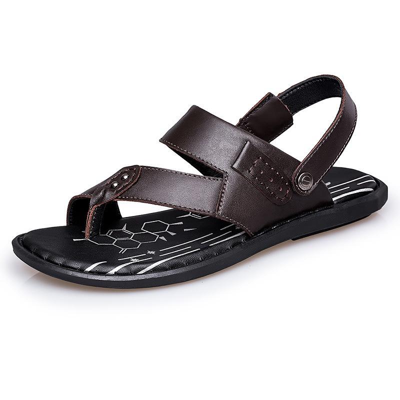 Taille Chaussures Hommes String Grande Mode En Été Plein Homme Air Flop Flip Sandale Pantoufles Sandales Plage Cuir D Vache QrdxeoCWB