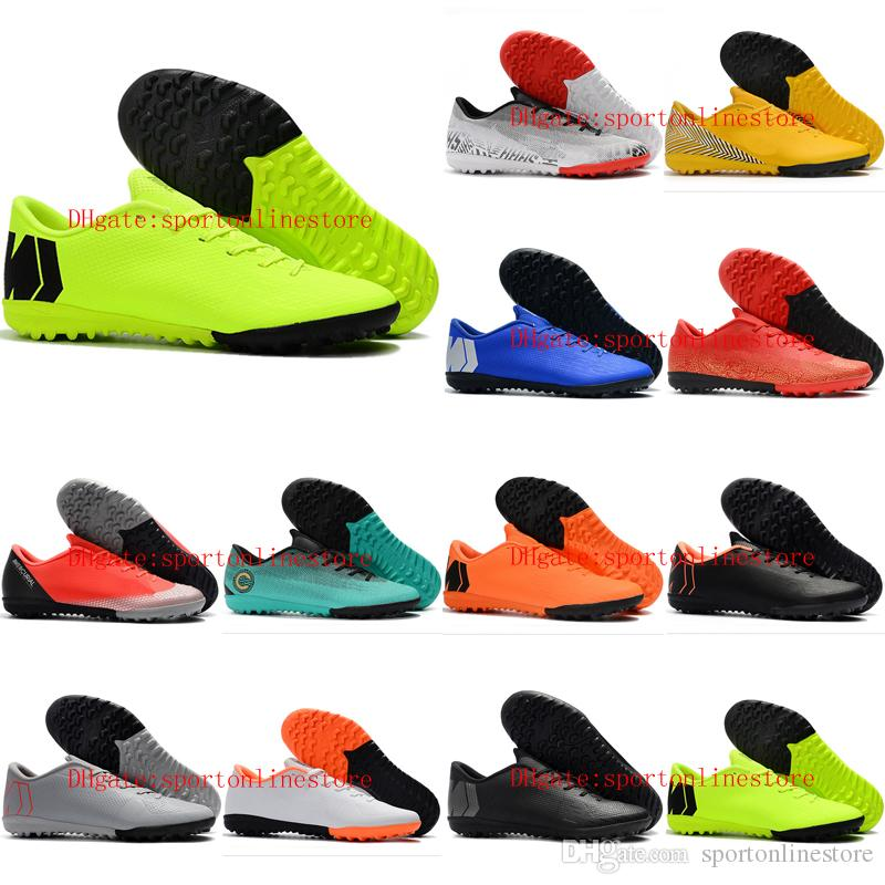 2019 mens soccer shoes low Mercurial VaporX XII Academy TF soccer cleats indoor CR7 football boots Mercurial Superfly scarpe da calcio