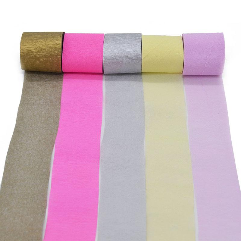 5cm*10m Crepe Paper Streamers Multicolor Paper Roll DIY Flower Making Birthday/Wedding Party Decoration Baby Shower
