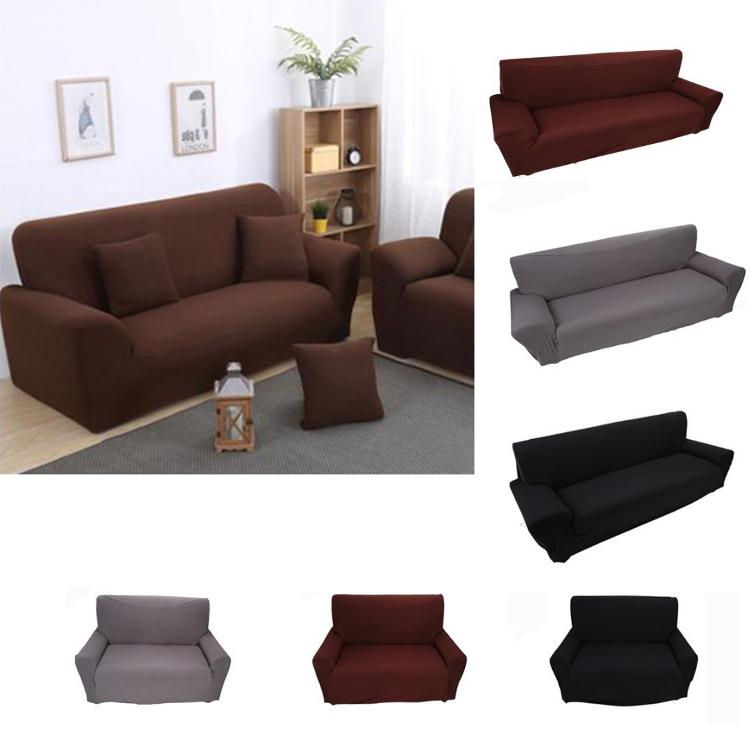 2 /3 Seater Sofa Cover Slipcover Stretch Elastic Couch Chair ...