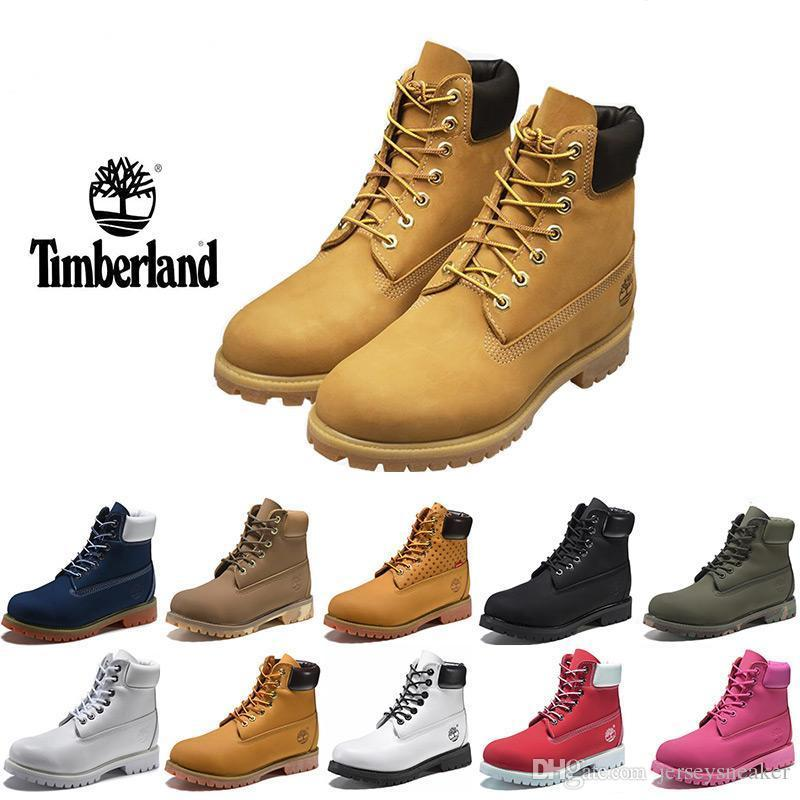 ae9e6b7d983e 2019 Original⠀Timberland Mens Womens Winter Boots Fashion Boots Black Red  Brown Grey TBL Casual Trainers Luxury Brand Boots Size 5.5 11 Canada 2018  From ...
