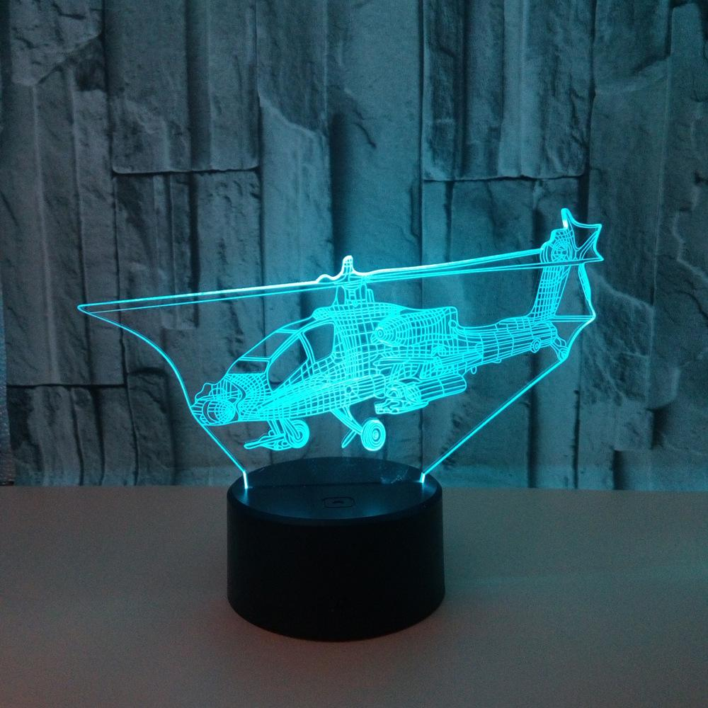 Originality Aircraft 3d Small Night-light Colorful Touch 3d Small Night-light Colorful Touch Remote Control 3d Vision Lamp Small Desk Lamp