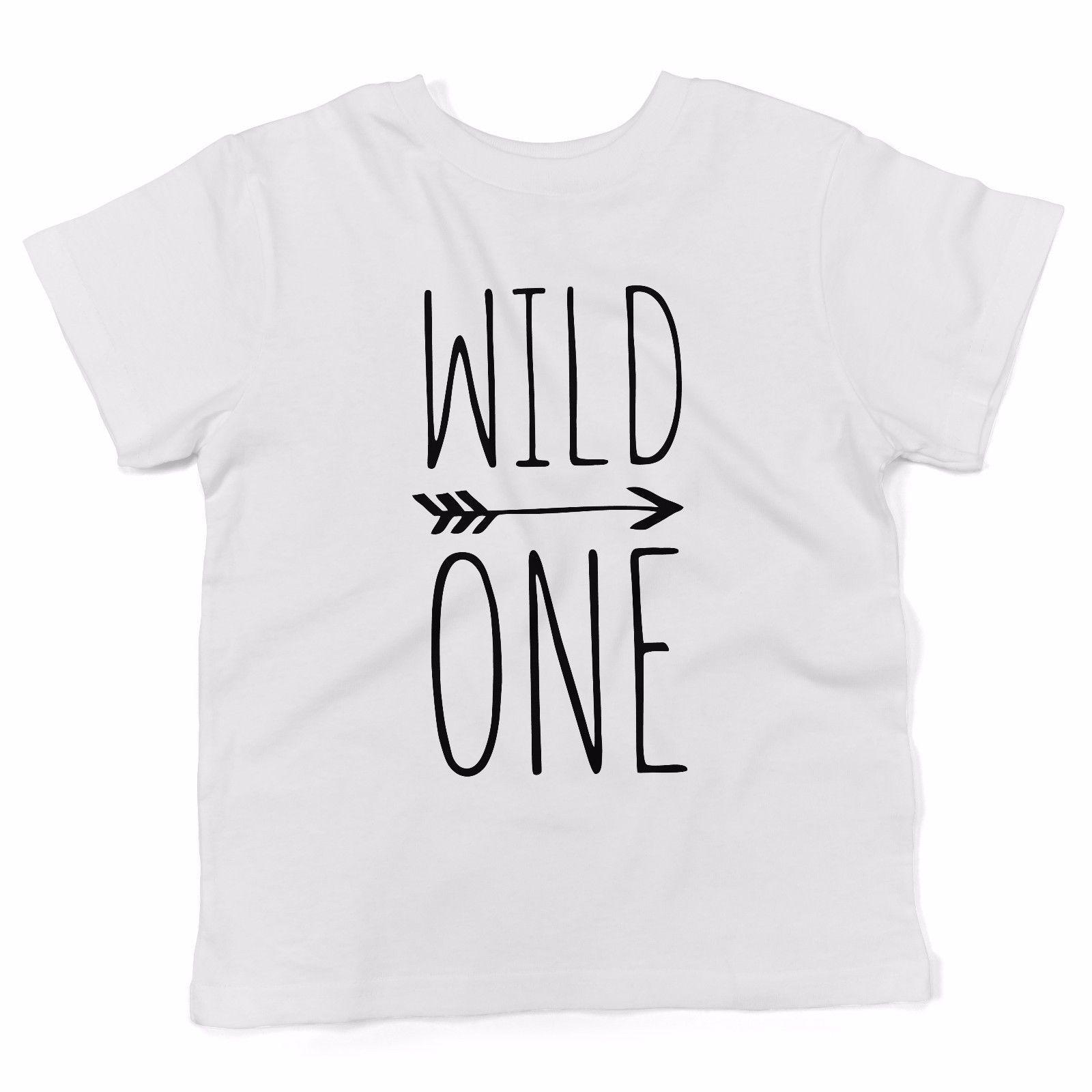 Baby T Shirt Wild One Abbigliamento Neonato Bianco Tees Custom Jersey T Shirt Hoodie Hip Hop T Shirt