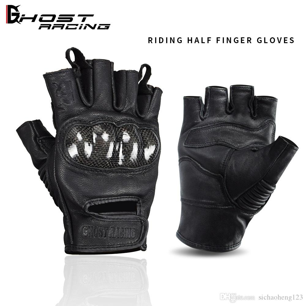 Brand Summer breathable leather racing off-road gloves riding gloves motorcycle half finger gloves/cycling gloves winproof black