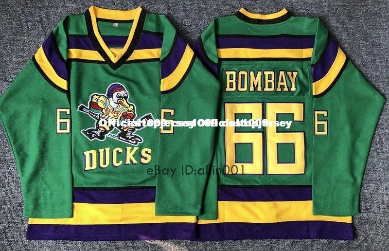 2019 Cheap Custom  66 Gordon Bombay Hockey Jersey Stitched Green Stitched  Customize Any Number Name MEN WOMEN YOUTH GOALIE CUT 5XL From  Officialtopjersey 759888a57db