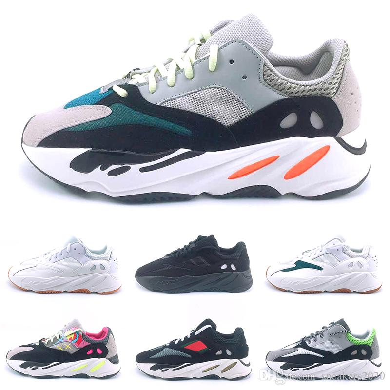 1583b8009 2019 Kanye West 700 Mauve Static 3M Wave Runner Running Shoes Men Women  700s Black White Grey Mens Designer Trainer Sport Sneaker Size 36 45 From  ...