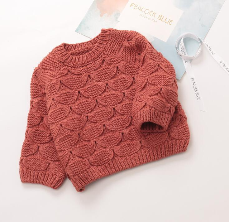 fe3665a42cce Girl Batwing Sleeve Sweaters 2019 Spring Baby Girls Knitting Sweater ...