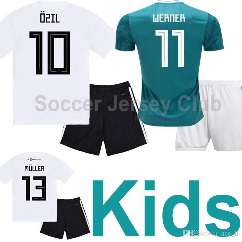 ad34981af35 2019 2019 Germany Kids Kits Soccer Jersey MULLER KROOS OZIL Boys National  Team Child HUMMELS WERNER REUS SANE Thailand Quality Football Shirts From  Ace li