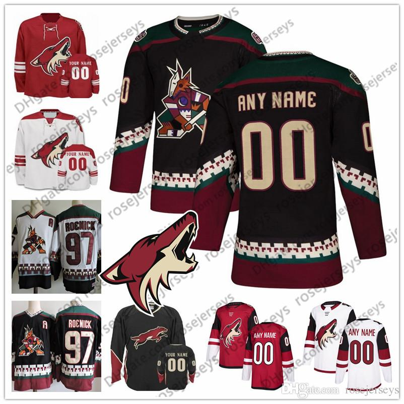 30776a05c ... where to buy 2019 custom arizona coyotes black third jersey any number  name men women youth