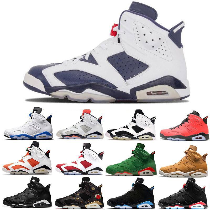 reputable site 1c9e0 fa3ff Infrared 6S VI Black Infrared Black legend blue cement Wholesale Basketball  Shoes Men fashion luxury mens women designer sandals shoes